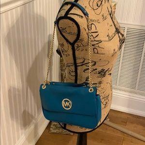 Michael Kors blue handbag like new